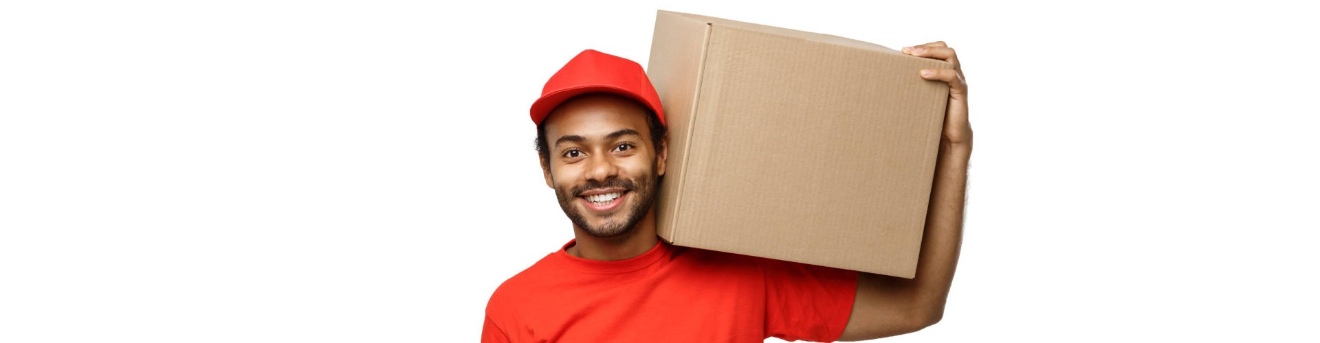 delivery guy holding a box